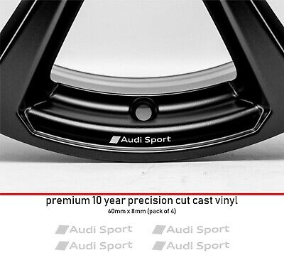 Audi Sport Micro Curve 10 YearCast Vinyl Decals Stickers x 4 - many colours