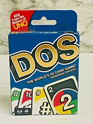 NEW Mattel Games UNO DOS Card Game