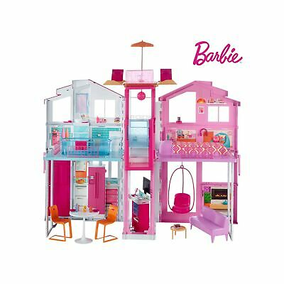 Barbie DLY32 ESTATE Three-Story Town House Colourful and Bright Doll House th...