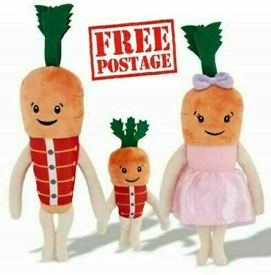 New Aldi Official Kevin the Carrot family Chantenay,Jasper & Baby Carrot 2019