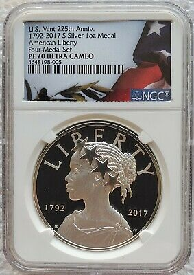 2017 S Proof 225th Ann. American Liberty Silver Medal 1 oz NGC PF70 Ultra Cameo