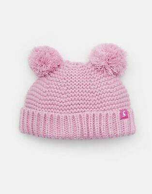 Joules Baby Pom Pom Knitted Double Hat in DUSK PINK