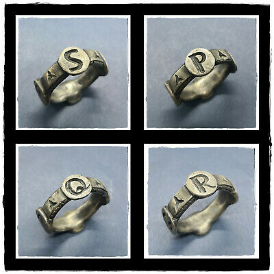 ** S.P.Q.R ** ancient MILITARY LEGIONARY SILVER Roman Ring-Pendant! 9,95g