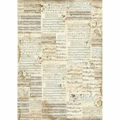 DFSA3004 Music Stamperia Rice Paper A3 42x30cm size Decoupage Mixed media