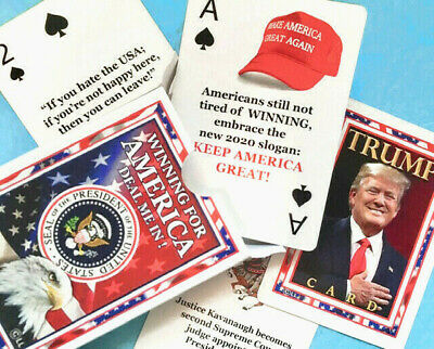 CLASSY President Donald Trump Illustrated MAGA Playing Cards