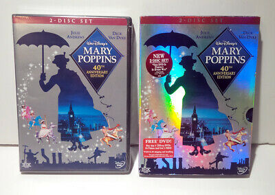 Disney's Mary Poppins DVD 2-Disc Set 40th Anniversary Edition w/slipcover NEW!