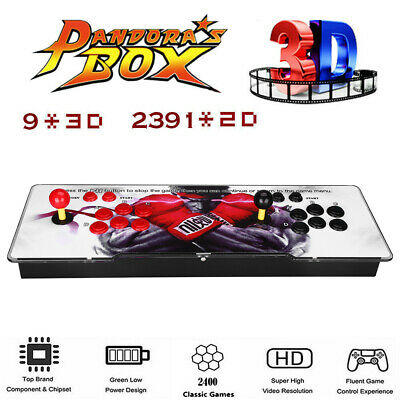 2400 in 1 Games 2 Player Arcade Retro Console USB HD For Laptop TV