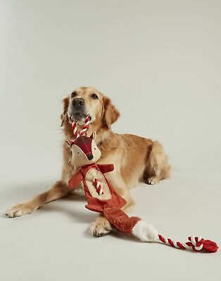 Joules Home Rope Fox Pet Toy in RED TWEED in One Size