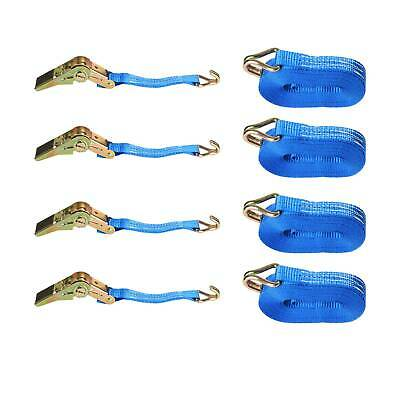 4 x 25mm 5 Meters Ratchet Tie Down Straps 800KG Claws Lorry Lashing Handy Travel