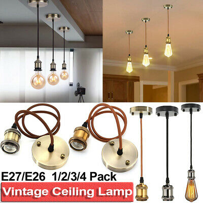 Pendant Light Fitting Kit Retro Hanging Ceiling Lamp Industrial Style Holder Kit
