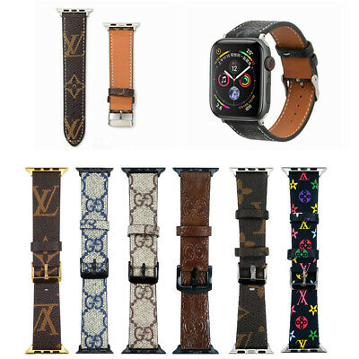 Luxury Brand Design iWatch Leather Strap for L V Apple Watch Band 38 40 42 44mm
