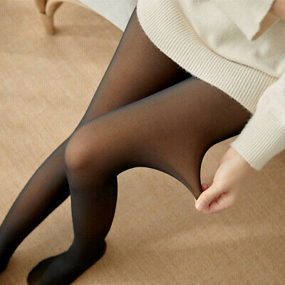 Flawless Legs Fake semi transparent Warm Fleece Pantyhose