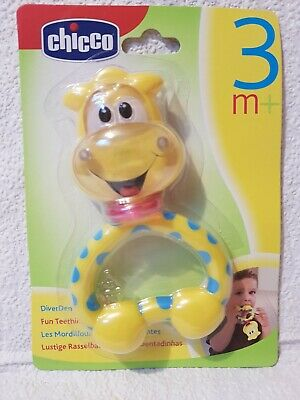 CHICCO Fun Teething Rattle Giraffe brand new. Suitable for 3 mth plus.
