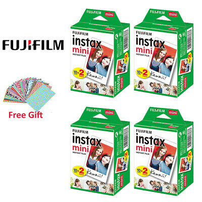 Fujifilm Instax Mini White Film 80 Sheets Photos - Fuji Instant 8 9 90 Pictures