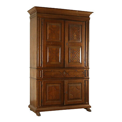 Large Walnut Wardrobe Italy 18th Century