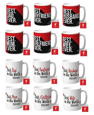 Personalised Liverpool FC Football Coffee Mug Christmas Gift for Him Her Dad Mum