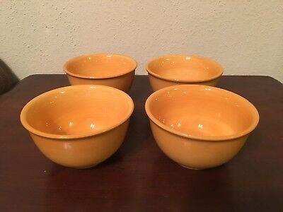 "Tabletops Lifestyles Napa Yellow Soup Cereal Bowl 6"" Set Of 4"