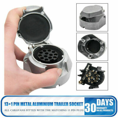 13 PIN METAL ALUMINIUM TRAILER SOCKET towing car van caravan