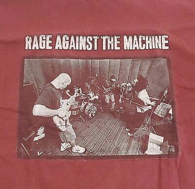 Vintage RAGE AGAINST THE MACHINE 1997 Concert Tour Shirt sz XL 90s Wu-Tang RATM