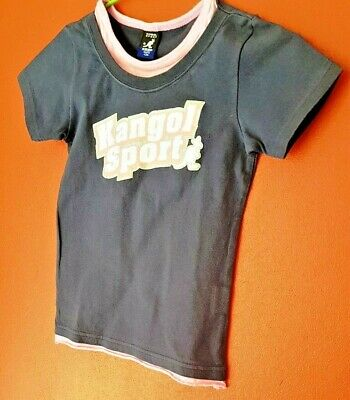 KANGOL SPORT KIDS Girls T Shirt Glittery Diamantes - Age 5yrs - Worn once -  VGC