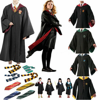 Harry Potter Adults Kids Cloak Robe Cape Scarf Tie Fancy Cosplay Costume Gifts