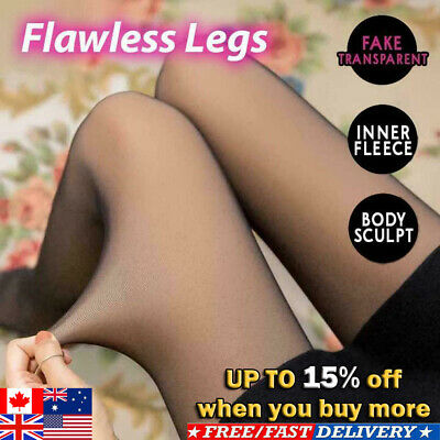 Flawless Legs Fake Translucent Warm Fleece Pantyhose HOT SELL