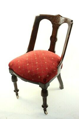 A Quality Victorian Mahogany Spoon Back Chair - FREE Shipping [5709 B]