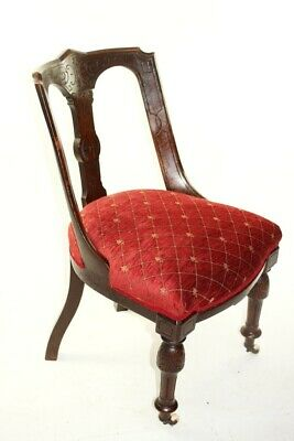A Quality Victorian Mahogany Spoon Back Chair - FREE Shipping [5709 C]