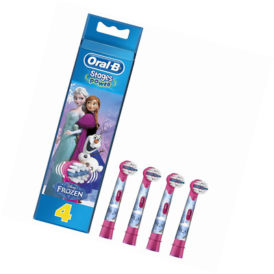 Oral-B Genuine Kids Stages Disney Frozen Replacement Pink Toothbrush Heads, Refi