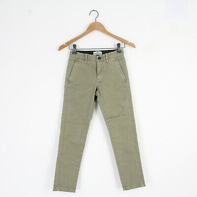 Kids New Stone Island Junior Cotton Khaki Green Chino Pants Trousers Age 8 BNWT