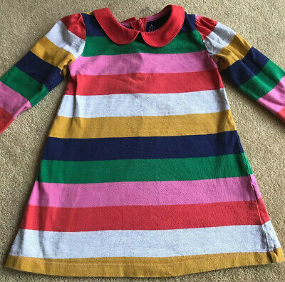Girls Mini Boden Striped Dress Age 2 - 3 Years