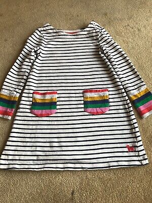 Gorgeous Girls Mini Boden Age 2 -3 Years Stripey Dress