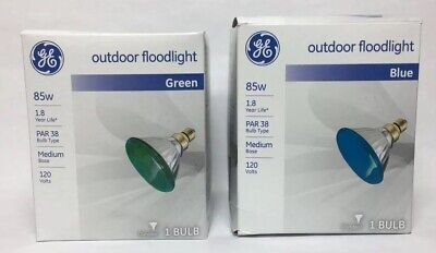 set of 5 total GE BLUE replacement icicle /& net sets bulbs 2.5 volts 0.42 watts