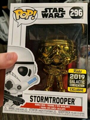 Funko Pop! Gold Chrome Stormtrooper Star Wars Celebration Target Exclusive New