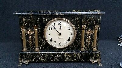 Antique Sessions Mantle Clock - Marbelized No. 1 - Eight Day - Half Hour Strike