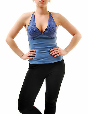 Free People Women's Intimates Lace Triangle Tank Top Blue Size XS RRP £26 BCF65