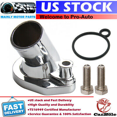 Thermostat Housing Water Neck Housing Small Block Ford 260 289 302 351W Chrome