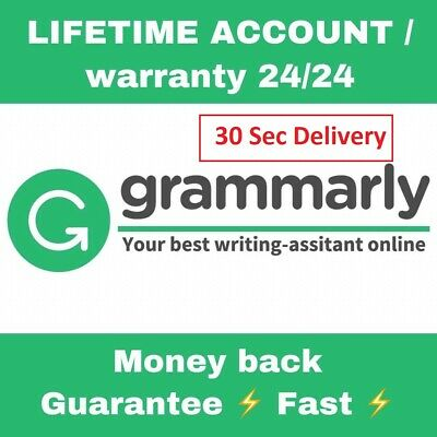 Grammarly Premium 🔥 Lifetime account with Lifetime Warranty 🔥 30 Sec Delivery!
