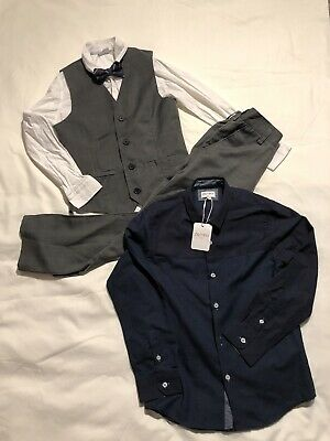Boys 9 yrs Smart 3 Piece Trousers Shirt & Vest w/ additional Shirt Outfit & Next