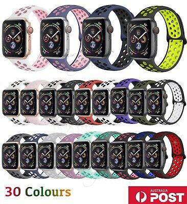 Nike Sport Silicone Strap iWatch Band For Apple Watch 38/40/42/44mm Series 54321