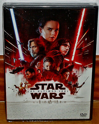 Star Wars the Last Jedi DVD New Sealed Aventuras Action (Sleeveless Open) R2