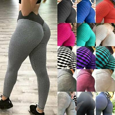 Women Anti-Cellulite Yoga Pants High Waist Leggings Push Up Sports Gym Fitness S