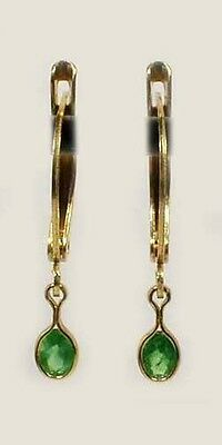 Gold Earrings Alexandrite Antique 19thC Russia Natural 1/3ct Color-Change 14kt