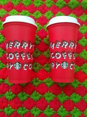 Starbucks 2019 Holiday Reusable Red Cup Grande/Medium 16oz comes w/Discount Code