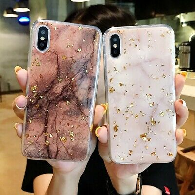 Giltter Marble Case For iPhone XR XS Max 8 7 6 Plus Shockproof Silicone Cover