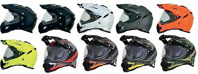 AFX FX-41DS Full Face Helmet Street Motorcycle or Offroad Motocross - Dual Visor
