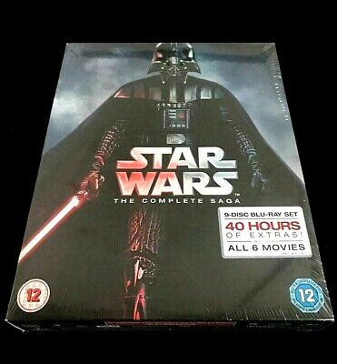 Star Wars: The Complete Saga Episodes Blu-ray [Region Free] All 6 Movies - NEW