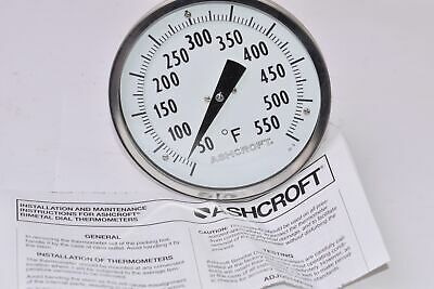 NEW Ashcroft, 0-50 Deg Pressure Gauge W/ Box & Manual
