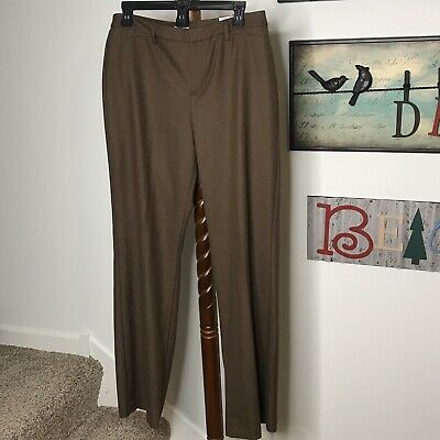 Coldwater Creek Womens Size 10 Natural Fit Boot Cut Brown Stretch Pant NWT $80