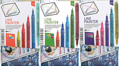 Derwent Graphik Line Painter Waterbased Pigment 5 pk - YOU Choose or Take All!